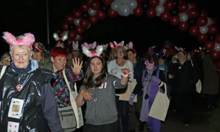Midnight walkers begin their charity meander for St Teresa's Hospice