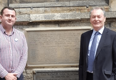 New War Memorial Unveiled At All Saints