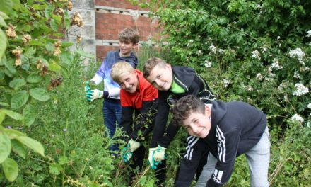 Pupils dig in at Belsay Hall for environment day