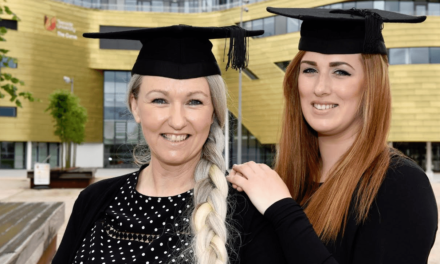 Mother and daughter share academic success