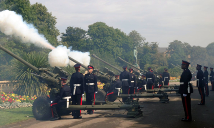 Artillery Fire and Gunners on Freedom Parade