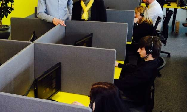 Godfrey Syrett delivers zesty-themed office furniture for Stockton call centre business