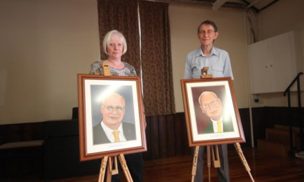 Portraits of Former Councillor Unveiled at Hall