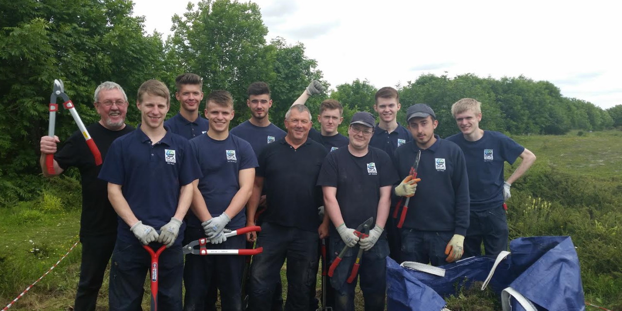 Apprentices join forces with local volunteers on a special conservation project