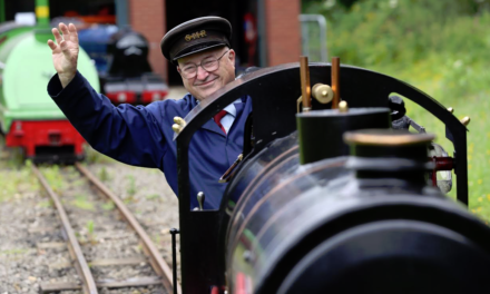Blacklock steam train unveiled at Saltburn Miniature Railway