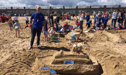 Local businesses team up with school children in charity sandcastle challenge