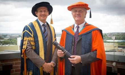 'Super-head' honoured by North East university for his services to education