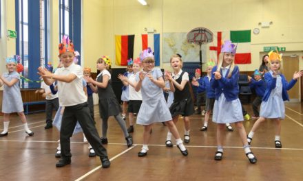 Pupils get in the Olympic carnival spirit