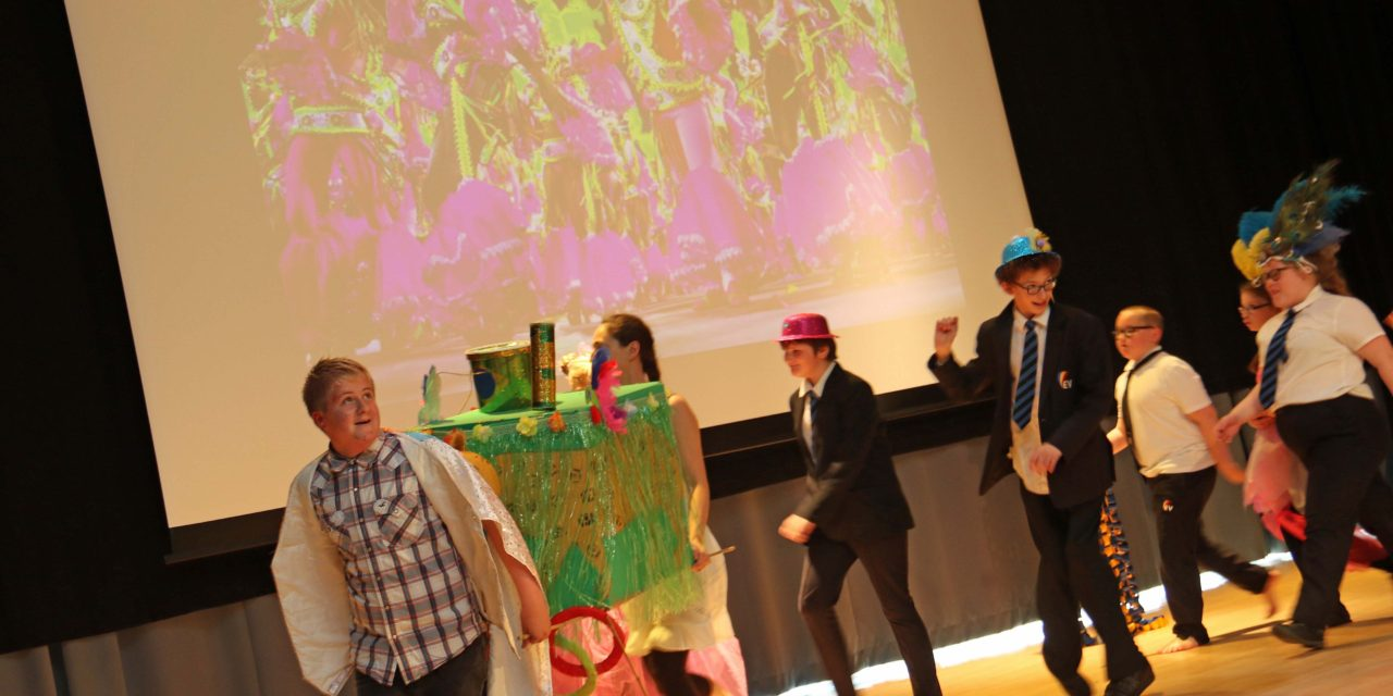 Students stage Rio carnival to celebrate Games