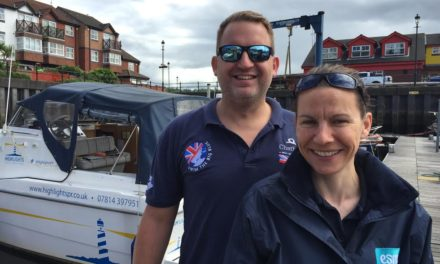 Waves of energy as Durham based therapeutic body worker takes on Atlantic challenge