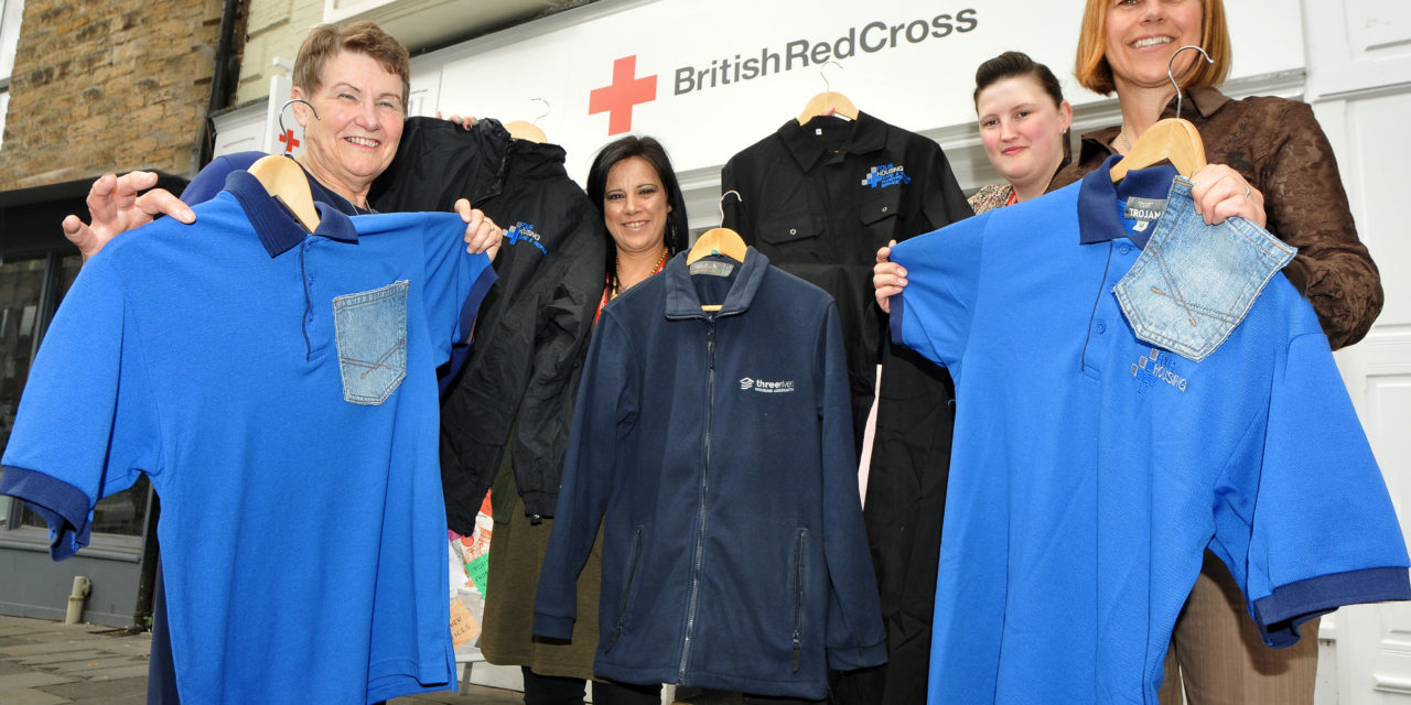 Four Housing donates workwear to Red Cross