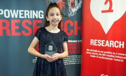 Cramlington girl recognised as a Heart Hero