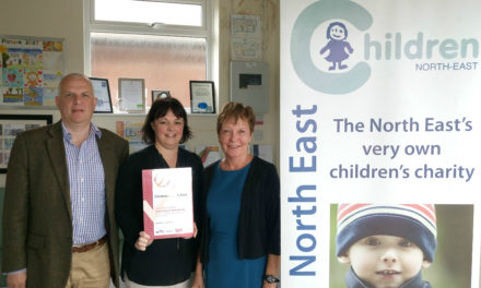 Children's charity celebrates recognition for its work with volunteers
