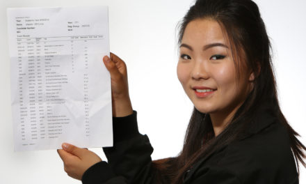 Chinese Speaker Secures Straight A's