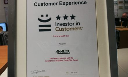 Analox Achieve the Top Rating from Investor in Customers
