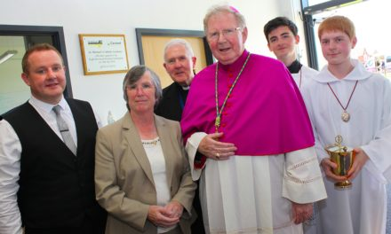 brand new school blessed by bishop