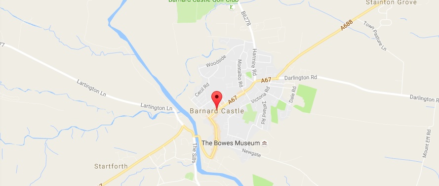 Road resurfacing at Barnard Castle