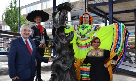 """New Bronze Sculpture """"World United by Dance"""" Unveiled in Festival Town"""