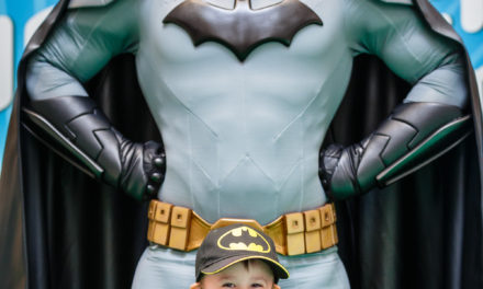 Batman Brings Cheer to Young Caped Crusaders