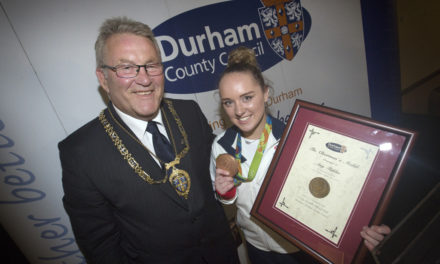 Amy Tinkler and her coaches awarded Chairman's Medals