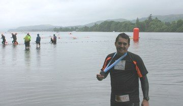 Darlington Building Society Finance Director completes marathon charity swim