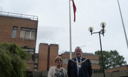 Red Ensign flag raised to mark Merchant Navy Day
