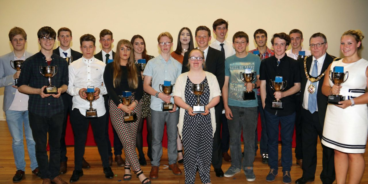 students celebrate awards