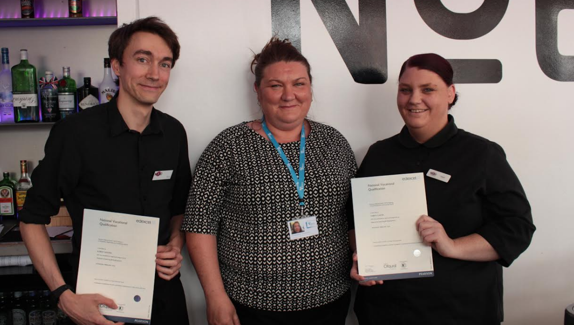 ARC staff celebrate gaining NVQ Hospitality qualifications