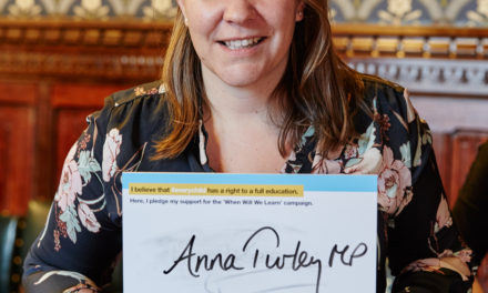 Anna Turley signs pledge to make education system better for children and young people with autism