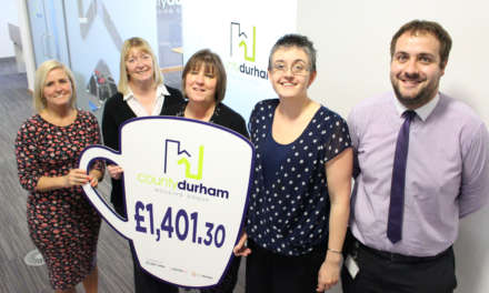 Housing group raises a £1,400 mug to charity