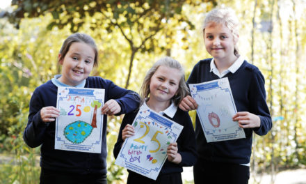 Schoolchildren design plaque for Dales centre's 25th birthday