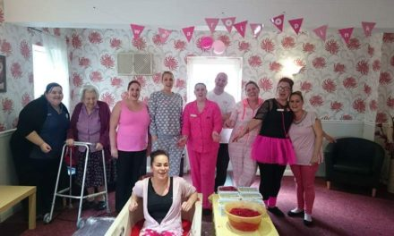 Pink custard bath for Stockton care home worker