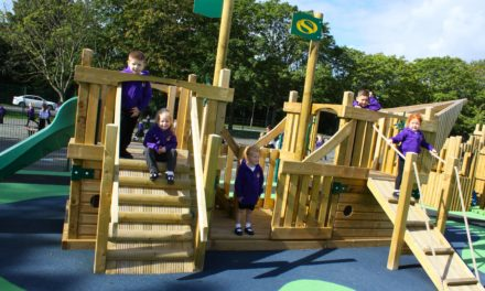 school's new play area proves to be ship-shape
