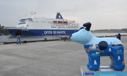 DFDS Snowdog unleashed on Fish Quay