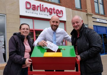 Darlington Building Society supports local couple's charity fundraising