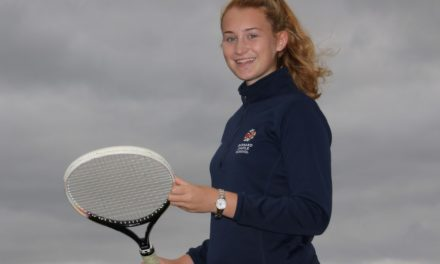 Schoolgirl enjoys double tennis success