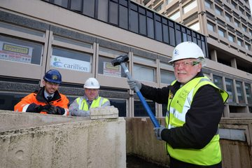 Durham resident marks the start of Milburngate House demolition
