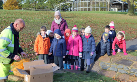 Stockton Pupils Plant Bulbs to Help Eradicate Polio