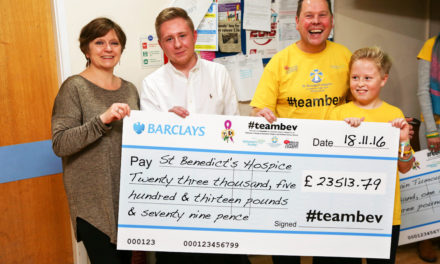 Bev's superstars raise £23,500 for hospice