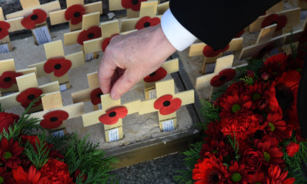 Teesside college students remember fallen servicemen