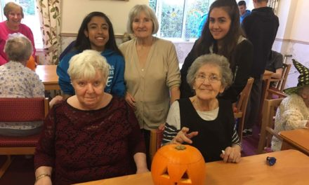 Halloween pumpkin carving at Ingelby Care Home