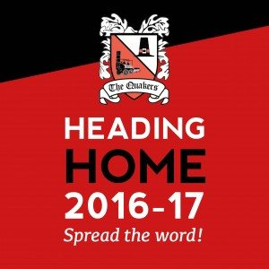 Quakers on target for return to Darlington in December