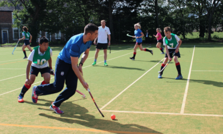International hockey player opens new sports pitch at Red House School