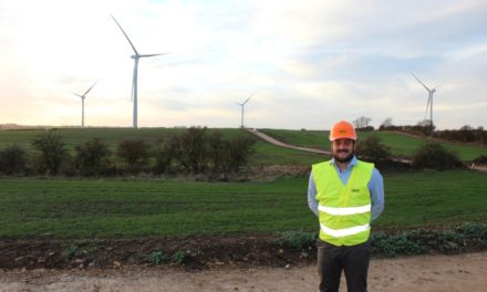 Turbines in Place at Lambs Hill Wind Farm Site