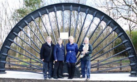 Northumberland village celebrates mining heritage with pit wheel installation