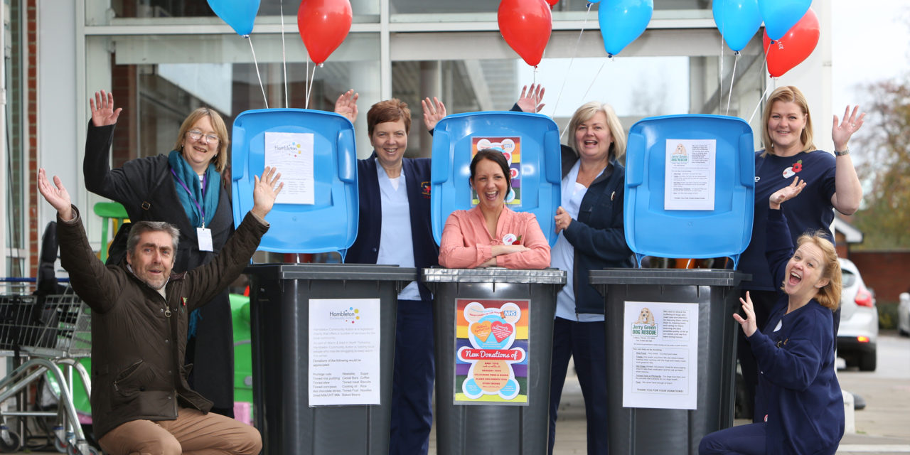 Recycling bins help local charities at local supermarket