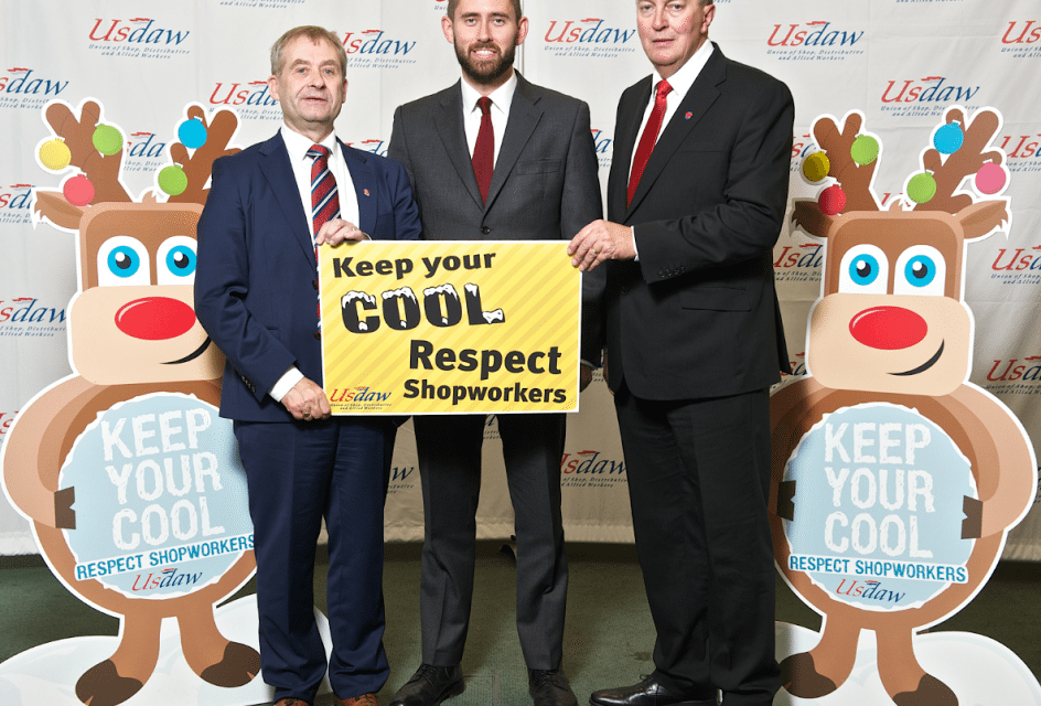Tom Blenkinsop backs Usdaw's campaign to protect shopworkers