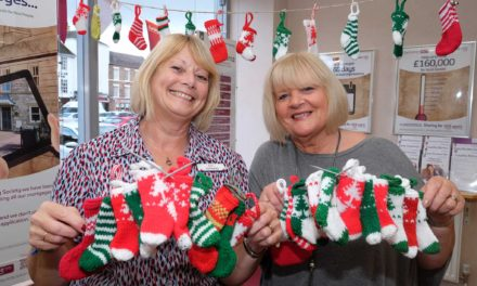 Darlington Building Society knits for cancer group
