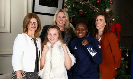 Young sporting star meets her idol Nicola Adams