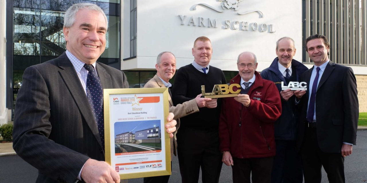 Yarm School wins national award for state-of-the-art music school